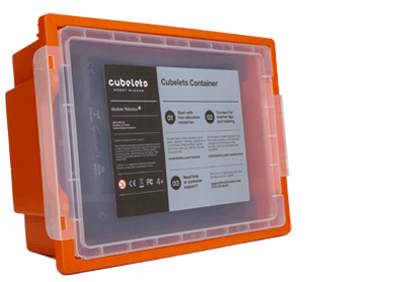 Large Cubelets Container – Orange